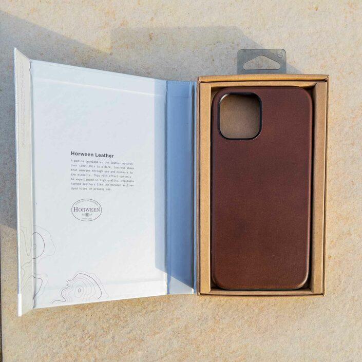 Coque en cuir marron Nomad iPhone 12 Pro Max